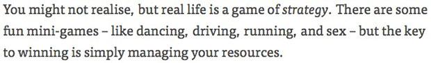 «Real Life» : la vie est un jeu, dont voici le mode demploi real life1