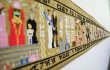 Star Wars résumé sur une tapisserie de 10 mètres