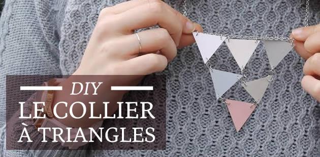 DIY — Le collier à triangles