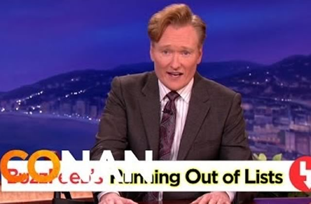 Conan O'Brien tacle Buzzfeed et ses fameuses listes
