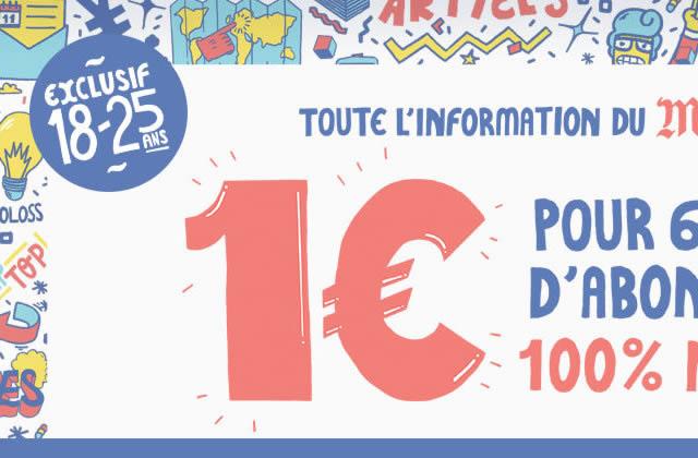 Le Monde version numérique à 1€ pour 6 mois pour les 18-25 ans