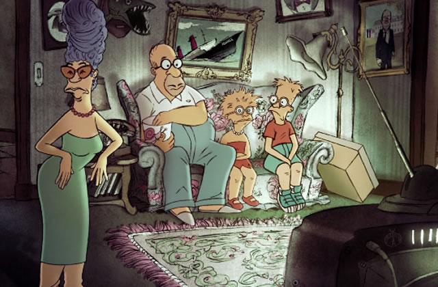 Les Simpson à la française dans un couch gag