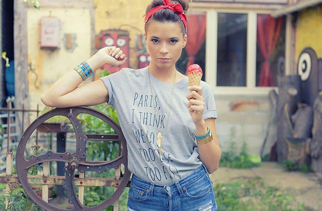 Le t-shirt à message : une tendance printemps-été 2014