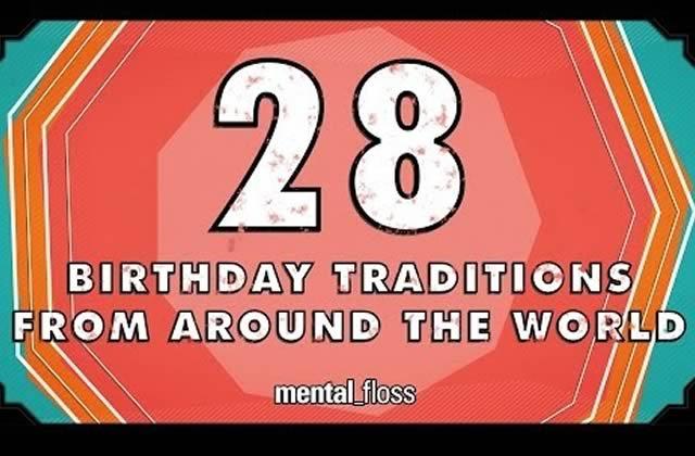 Les anniversaires à travers le monde