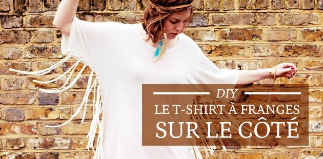 DIY — Le t-shirt à franges sur le côté