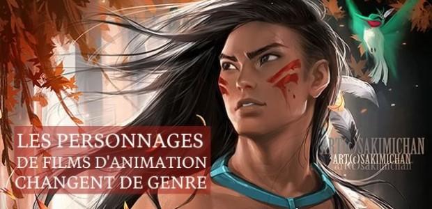 Les personnages de films d'animation changent de genre
