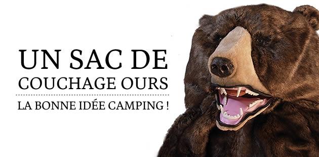 Un sac de couchage ours : la bonne idée camping !