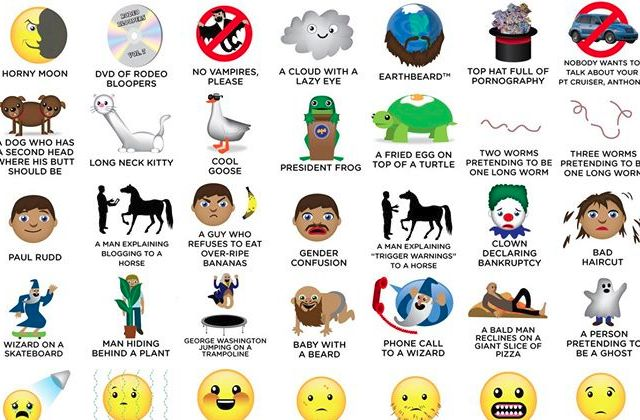 100 nouvelles émoticônes délicieusement absurdes