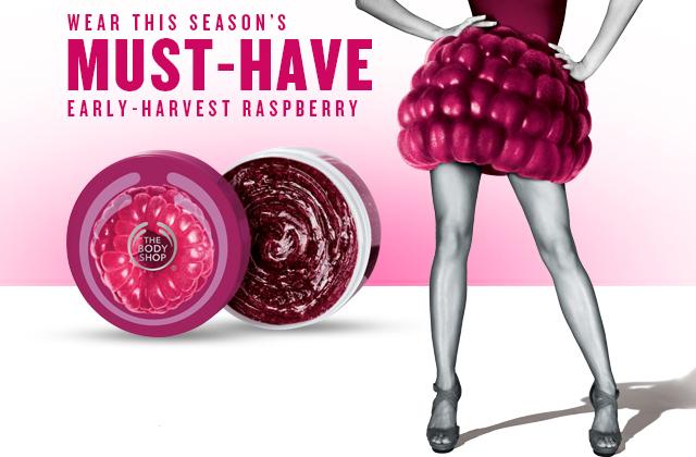 The Body Shop sort une gamme à la framboise