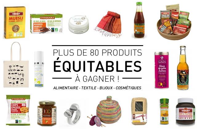 80 produits issus du commerce équitable à gagner !