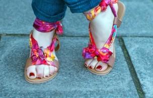 Lien permanent vers DIY — Des sandales-foulard pour l'été
