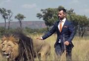 Lien permanent vers Des lions jouent au foot avec un zoologiste
