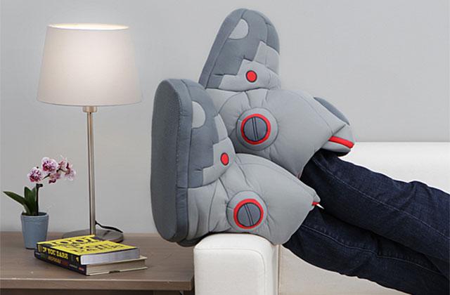 Les pantoufles robot, pour marcher comme un androïde