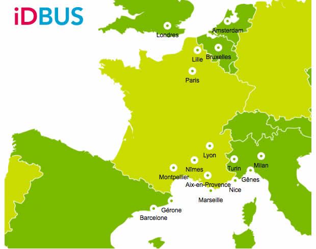 Les bons plans idbus de l 39 t - Lyon barcelone bus ...