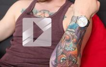 Àsgeir chante en acoustique et fait son Street Tattoo