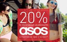 Asos offre 20% de réduction aux madmoiZelles