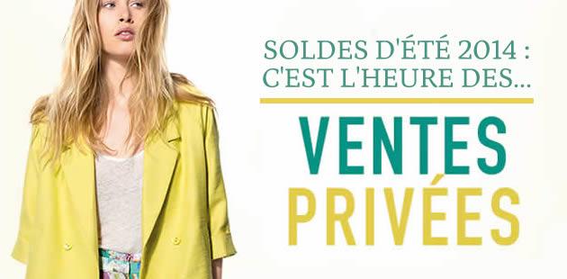 Soldes d'été 2014 : c'est l'heure des ventes privées  !
