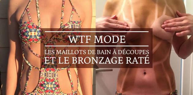 Les maillots de bain à découpes et le bronzage raté – WTF Mode