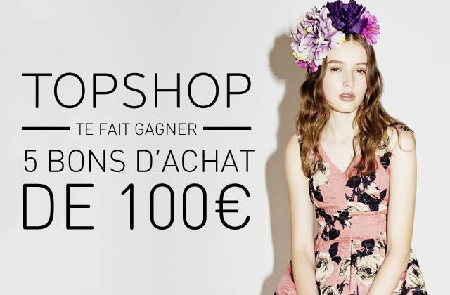 500€ de shopping à gagner chez Topshop !
