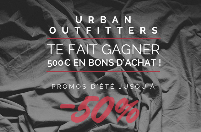 urban outfitters vous fait gagner 500 de bons d 39 achat. Black Bedroom Furniture Sets. Home Design Ideas