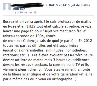 Bac S Maths 2014 : bac s 2014 l 39 preuve de maths tait elle trop difficile ~ Medecine-chirurgie-esthetiques.com Avis de Voitures