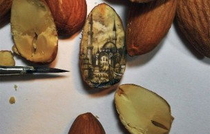 Lien permanent vers Istanbul sur une amande : l'art miniature d'Hasan Kale