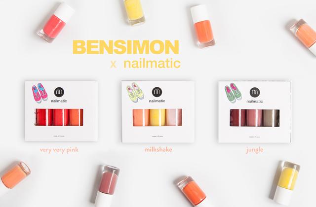 Nailmatic et Bensimon créent une collection de vernis à ongles