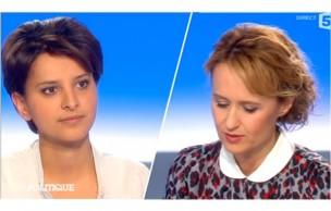 Lien permanent vers Najat Vallaud-Belkacem invitée de Caroline Roux dans C Politique