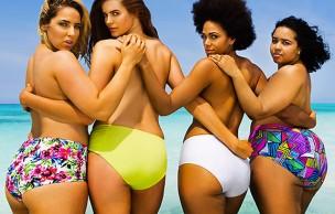 Lien permanent vers 4 mannequins grandes tailles recréent la couverture de Sports Illustrated