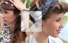 Tuto Coiffure — 3 idées pour les festivals de l'été