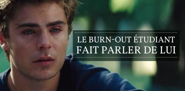 Le burn-out étudiant fait parler de lui