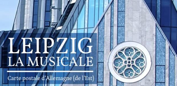 Carte postale d'Allemagne (de l'Est) : Leipzig la musicale