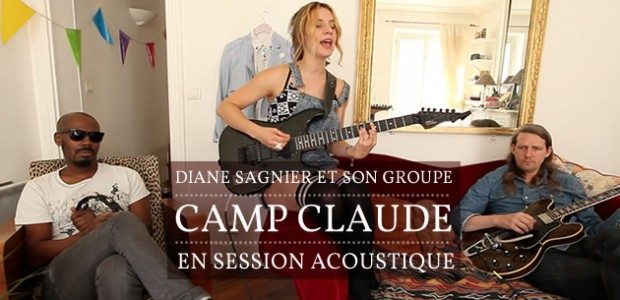Diane Sagnier et son groupe Camp Claude en session acoustique