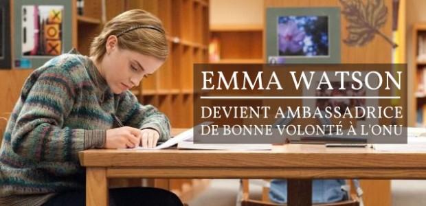 Emma Watson devient ambassadrice de bonne volonté à l'ONU