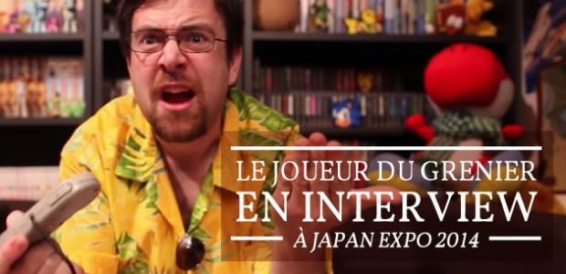 Le Joueur du Grenier en interview à Japan Expo 2014