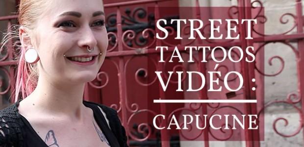 Street Tattoos — Capucine et son tatouage à l'encre blanche