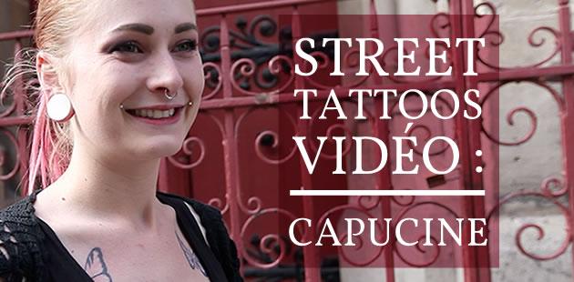Tatouage blanc : le street tattoos de Capucine