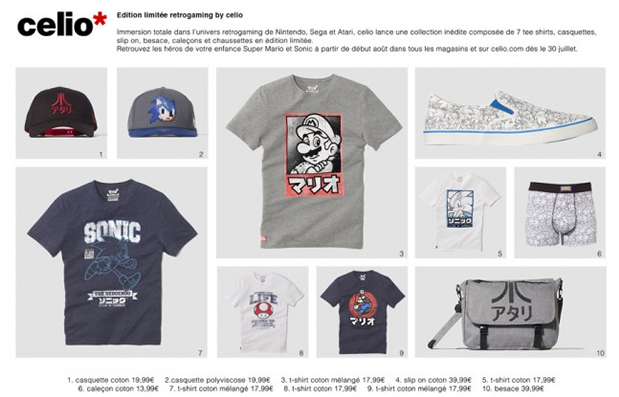 Celio lance une collection dédiée au retrogaming  celioretro