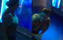 Une dame attaquée par un requin pour du faux