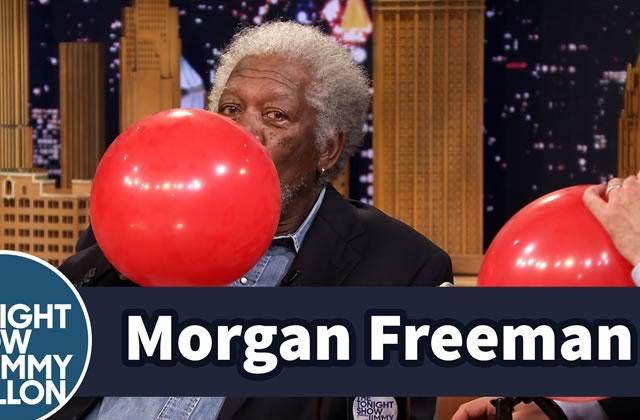Morgan Freeman et sa voix après avoir inhalé de l'hélium