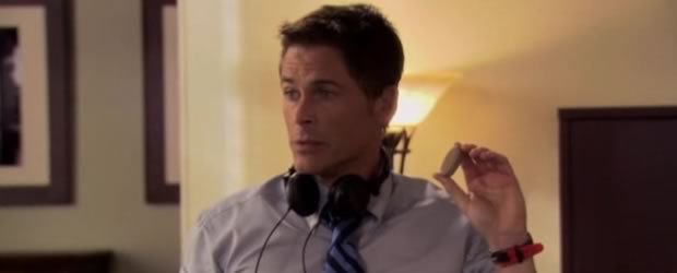 Rob Lowe dans l'excellente sitcom Parks and Recreation