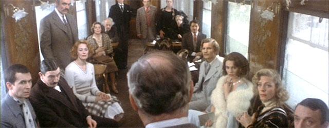 Image tirée de l'adaptation en film du Crime de l'Orient Express par Sidney Lumet