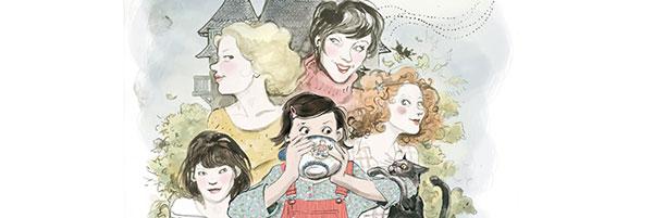 Image tirée de l'adaptation en BD de Quatre Soeurs, illustrée par Cati Baur