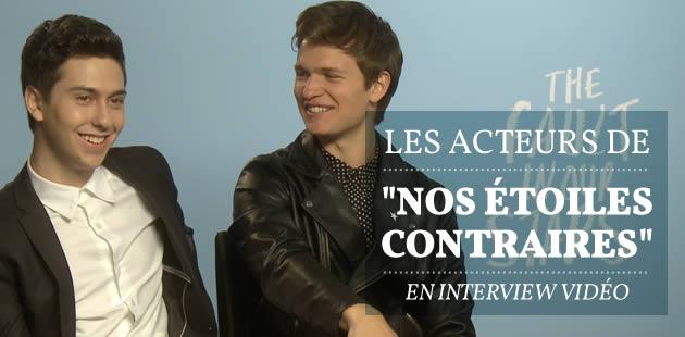 Les acteurs de «Nos étoiles contraires» en interview video !