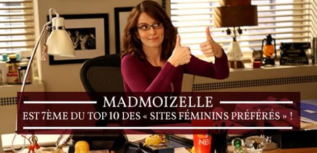 madmoiZelle est 7ème du top 10 des « sites féminins préférés » !