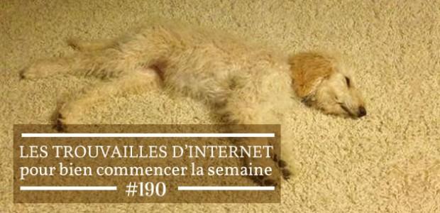 Les trouvailles d'Internet pour bien commencer la semaine #190