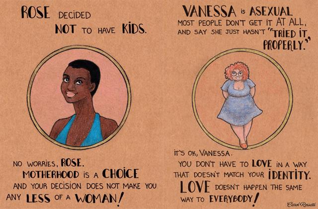 Les illustrations féministes de Carol Rossetti