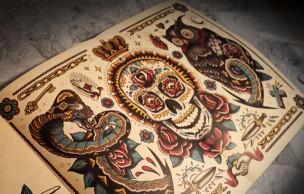 Lien permanent vers Un cahier de coloriage spécial tatouages