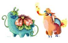 Pokémon x des lamas, le combo parfait