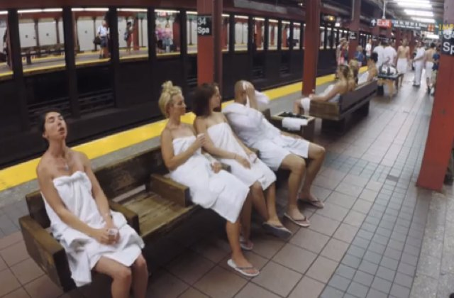 Quand le métro new-yorkais se transforme en spa